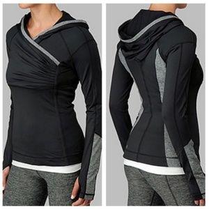 Lululemon Size 6 Black Gray Crosstrain Pullover